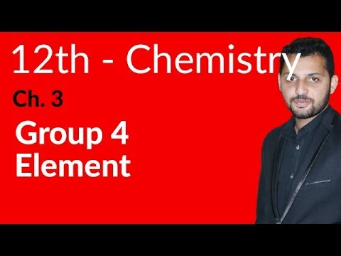 Fsc Chemistry book 2, Ch 3 - Group Four Elements - 12th Class Chemistry