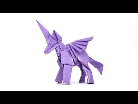 【折り紙】ユニコーンを折ってみた/ORIGAMI UNICORN