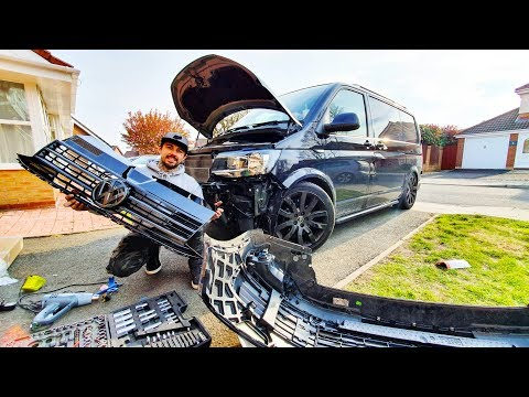 FRONT END UPGRADES!! | VW T6 CAMPER PROJECT