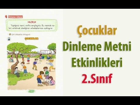 Çocuklar Dinleme İzleme Metni Etkinlikleri ve Cevapları 2.Sınıf Türkçe ders Kitabı