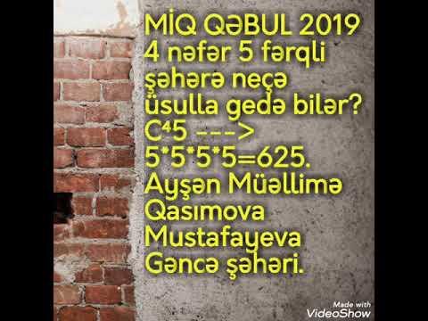 MİQ QƏBUL SUALLARI 11-ci hissə