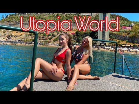 ТУРЦИЯ, Аланья, Utopia World Hotel 5* : обзор ПЛЯЖА    TURKEY, Alanya