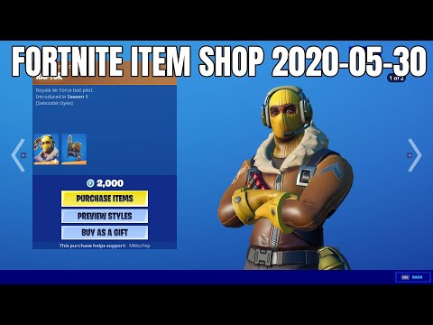Raptor skin set is back - Fortnite Item Shop (2020-05-30)