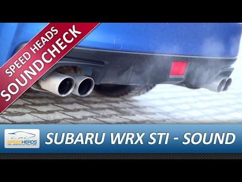 Subaru WRX STI (2014) Auspuff / Exhaust Sound - Start & Rev