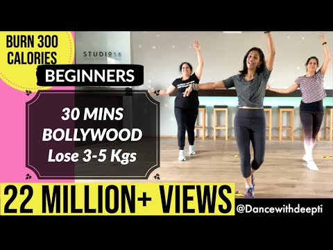 30 mins BEGINNERS Workout | Lose 3-5 kgs in 1 month | BOLLYWOOD Dance Fitness Workout # 25