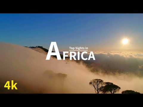 (4K UHD) Africa - Amazing Scenery in Africa along with African Relaxing Music.